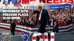 Trump marcia oggi su Washington sostenutoo da ben oltre mezza America.