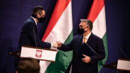 Mateusz Morawiecki Premier Polonia e Viktor Orban Premier Ungheria