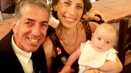 Ignazio Florio Pipitone, qui con la sua cara moglie Antonietta e il figlioletto Luigi, ...velisti per forza.