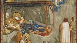 La Natività di Gesù è un affresco (200×185 cm) di Giotto, databile al 1303-1305 circa, facente parte del ciclo della Cappella degli Scrovegni a Padova. È compresa nelle Storie di Gesù del registro centrale superiore, nella parete destra guardando verso l'altare. Giotto è genio, innovazione, disegno, pittura, poesia, fede...  L'arrte cristiana è come 'pregarecantando', si prega due volet (Sant'Agostino).