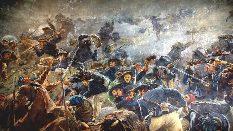 Crimea: la Battaglia della Cernaia in un dipinto firmato L. De Stefani, pittore che vi combattè: La battaglia della Cernaia, fu combattuta vittoriosamente dalle truppe franco-piemontesi contro quelle russe nei pressi dell'omonimo fiume ...