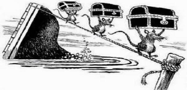 La bagnarola del governo affonda, già i topi scappano: difficilmnte se ne salverà qualcuno...
