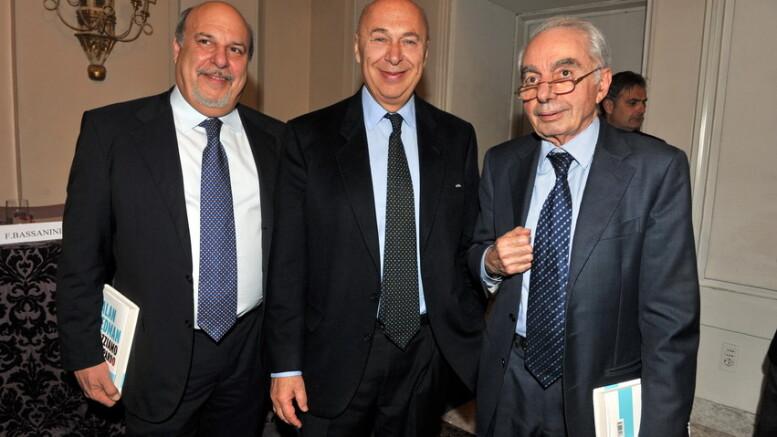 Alan Friedmnan, Paolo Mieli qui con Giuliano Amato: three lovely fellows, non c'è che dire...