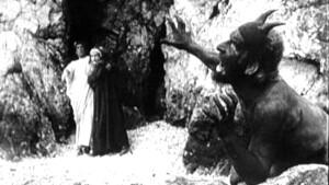 Dante all'Inferno con Federico II, epicureo e ma degno di gran rispetto per intellignza e catatere.