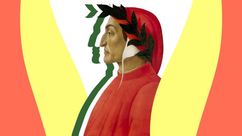 Dante Alighieri, figlio di Alighiero: è lui, fra tutti i grandi d'Italia, il simbolo del 'nostro paese nel mondo'. In molte rappresentazioni  appare associato al tricolore. Assieme a Francesco Petrarca (Canzone all'Italia) concepi con 'tanto anticipo' l'unità della Penisola realizzata solo dopo mezzo millennio. Gli spunti patriottici di Dante e Petrarca trovano riscontrro mnella canzone 'All'Italia' in cui G. Leopardi, alla vigiliadell'unità dimostra per una volta di ìnon essere certamente 'sordo' alla volontà della Penisola di essere Una e Indipendente.