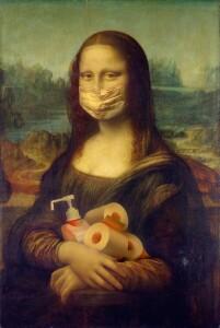 Si parla del grande Leonardo (ma il più grande scienziato è Galileo). Sommo pittore, grande fiorentino come altri, innovatore come pochi: quante ne hanno 'combinate' alla sua Gioconda. Ecco Monna Lisa in formato 2019 con mascherina perfettamente chiusa sul naso anche lei...