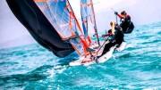 Sofia e Marta Giunchiglia qui nelle acque di Punta Ala. Sono. pluricampionesse in campo nazionale e internazionale sono fra le maggiori promesse della vela olimpica azzurra. Passeranno al 49er-
