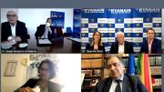 Una schermata con tutti i partecipanti alla videoonferenza. Da sx in alto la Gesap con Giovanni Scalia accanto la Ryanair con il Ceo e a Silvia Tabarini. In basso Houda Sboui di Ultratrasporti e L. Ortlando per l'area metropolitana. Ryanair come una 'regina' dell'incoming e dell'outgoing a Palermo.