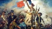E. Delacroix, La libertà che guida il popolo, 1830, Louvre, Parigi. In testa la bella Marianne con il tricolore. Innovazione, contraddizioni e una sostanziale illusione: cambiare il mondo nel corso di una sola generazione, una volta 'illuminata la ragione'....
